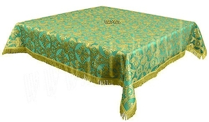 Holy Table cover - brocade B (green-gold)