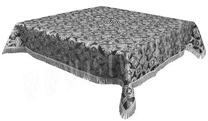 Holy Table cover - brocade B (black-silver)