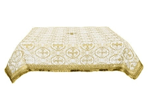 Holy Table cover - brocade B (white-gold)