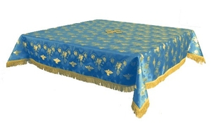 Holy Table cover - brocade BG1 (blue-gold)