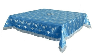 Holy Table cover - brocade BG1 (blue-silver)