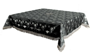 Holy Table cover - brocade BG1 (black-silver)