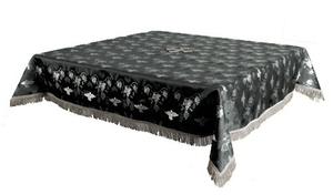 Holy Table cover - brocade BG1 (black-silver)
