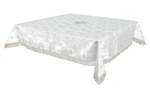 Holy Table cover - brocade BG1 (white-silver)