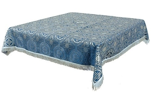 Holy Table cover - brocade BG2 (blue-silver)
