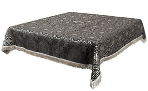 Holy Table cover - brocade BG2 (black-silver)