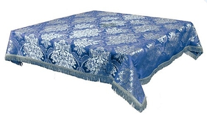 Holy Table cover - brocade BG3 (blue-silver)
