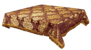 Holy Table cover - brocade BG3 (claret-gold)