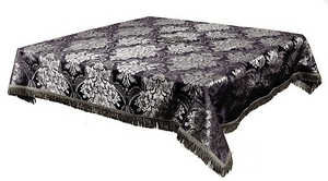 Holy Table cover - brocade BG3 (black-silver)