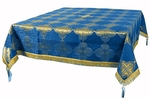Holy Table cover - brocade BG4 (blue-gold)