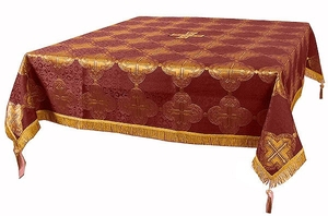 Holy Table cover - brocade BG4 (claret-gold)