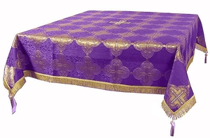 Holy Table cover - brocade BG4 (violet-gold)