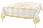 Holy Table cover - brocade BG4 (white-gold)