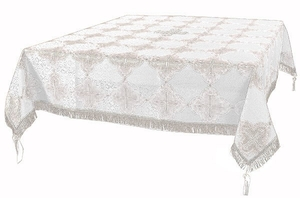 Holy Table cover - brocade BG4 (white-silver)