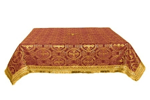 Holy Table cover - silk S2 (claret-gold)