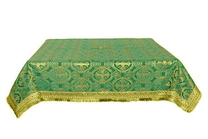 Holy Table cover - silk S2 (green-gold)