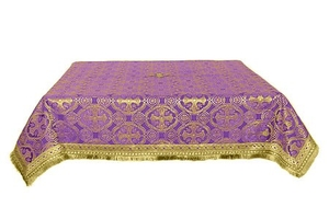 Holy Table cover - silk S3 (violet-gold)