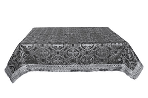 Holy Table cover - silk S3 (black-silver)