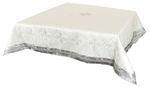 Holy Table cover - silk S3 (white-silver)