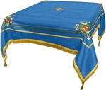 Embroidered Holy table cover Balaam (blue-gold)