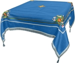 Embroidered Holy table cover Balaam (blue-silver)