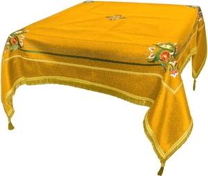 Embroidered Holy table cover Balaam (yellow-gold)