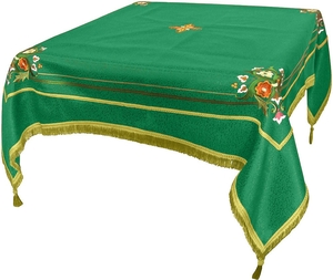 Embroidered Holy table cover Balaam (green-gold)