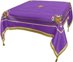 Embroidered Holy table cover Balaam (violet-gold)
