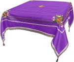 Embroidered Holy table cover Balaam (violet-silver)