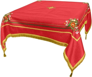 Embroidered Holy table cover Balaam (red-gold)