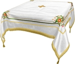 Embroidered Holy table cover Balaam (white-gold)