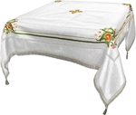 Embroidered Holy table cover Balaam (white-silver)