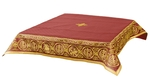 Embroidered Holy table cover Protection of the Theotokos (claret-gold)