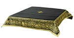 Embroidered Holy table cover Protection of the Theotokos (black-gold)