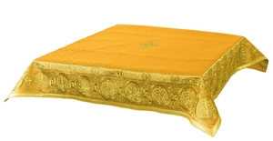 Embroidered Holy table cover Protection of the Theotokos (yellow-gold)