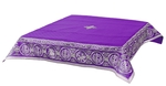 Embroidered Holy table cover Protection of the Theotokos (violet-silver)