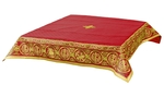 Embroidered Holy table cover Protection of the Theotokos (red-gold)