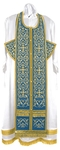Embroidered Epitrakhilion set - Wattled (blue-gold)