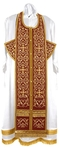 Embroidered Epitrakhilion set - Wattled (claret-gold)