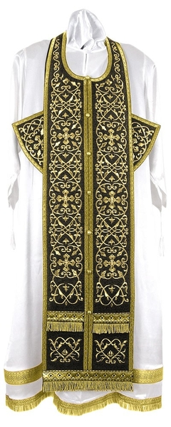 Embroidered Epitrakhilion set - Wattled (black-gold)