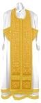 Embroidered Epitrakhilion set - Wattled (yellow-gold)