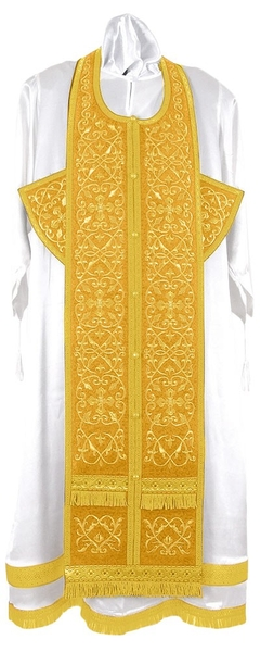 Embroidered Epitrakhilion set - Wattled (yellow-gold)