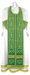 Embroidered Epitrakhilion set - Wattled (green-gold)