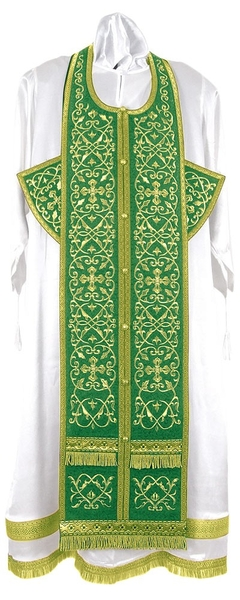 Embroidered Epitrakhilion set - Wattled (green-gold)