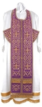 Embroidered Epitrakhilion set - Wattled (violet-gold)