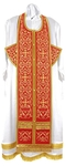 Embroidered Epitrakhilion set - Wattled (red-gold)