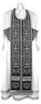 Embroidered Epitrakhilion set - Wattled (black-silver)