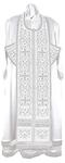 Embroidered Epitrakhilion set - Wattled (white-silver)