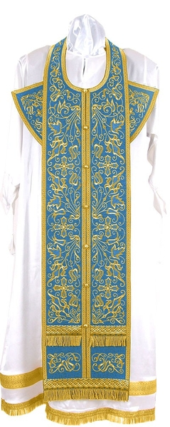 Embroidered Epitrakhilion set - Iris (blue-gold)