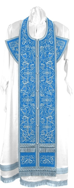 Embroidered Epitrakhilion set - Iris (blue-silver)